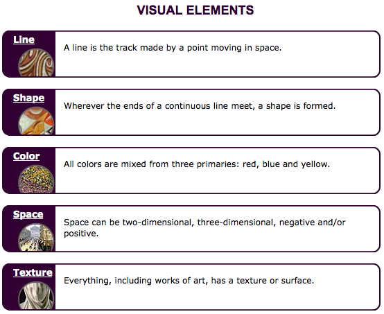 Visual Elements Of Art Examples : Art inspired the elements of design
